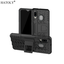 For Samsung Galaxy A20E Case Rubber Silicon Armor Hard PC Phone Cover for A202F