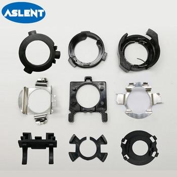 цена на ASLENT 2Pcs H7 H1 LED Car Headlight Adapter Bulb Base Holder Socket For Benz BMW Audi Auto Headlamp Mount Stand For Nissan VW