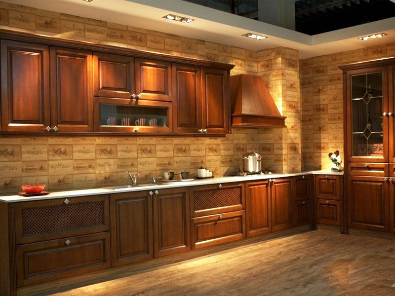 Free Design Customize American Solid Wood Kitchen Cabinets With Solid Wood Door Panel America Integral Ambry