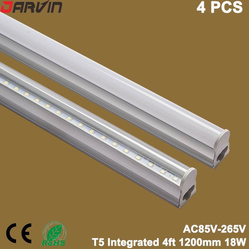 T5 Led Tube 4ft 120cm 18W Led Light Lamp Integrated Fluorescent Tube Super Bright 110v 220v Led, Factory Direct Sales цена