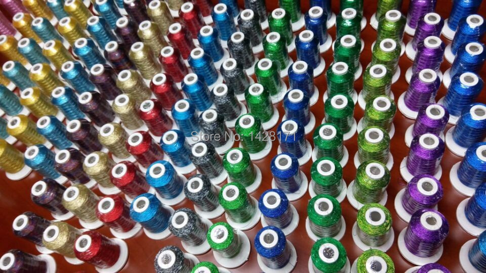 Simthread Brand Hot Selling Madeira Popular Colors 500m Metallic Embroidery Thread+20A Plastic Bobbin With Free Shipping.