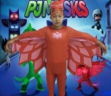 PJ Máscaras Connor Greg Amaya Owlette Clássico Criança Criança Traje Do Partido Do Disfarce do Dia Das Bruxas