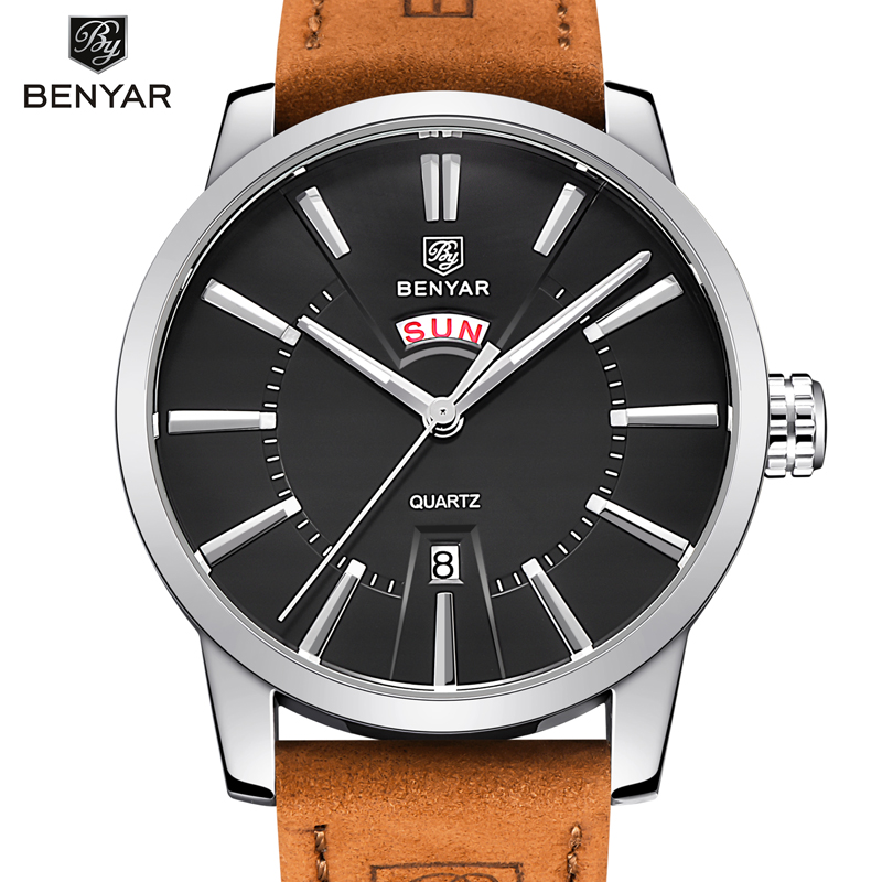 BENYAR Luxury sports watch fashion waterproof 30M leather original military men wristwatch quartz-watch Clock relogio masculino new listing men watch luxury brand watches quartz clock fashion leather belts watch cheap sports wristwatch relogio male gift
