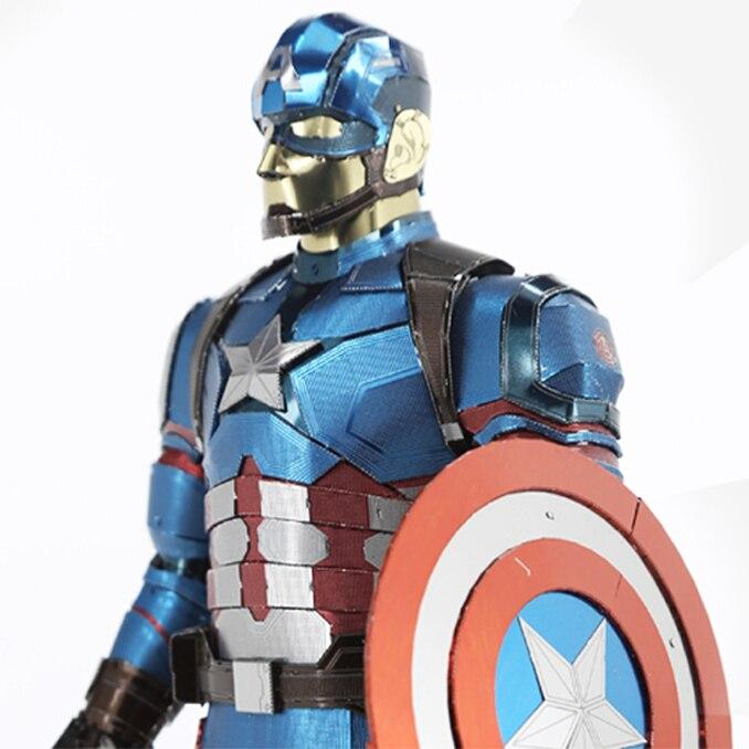 Puzzle 3D en métal pour Captain America/iron Man modèle bricolage Figure Statue Collectional éducatif Parent-enfant interactif enfants jouets - 6