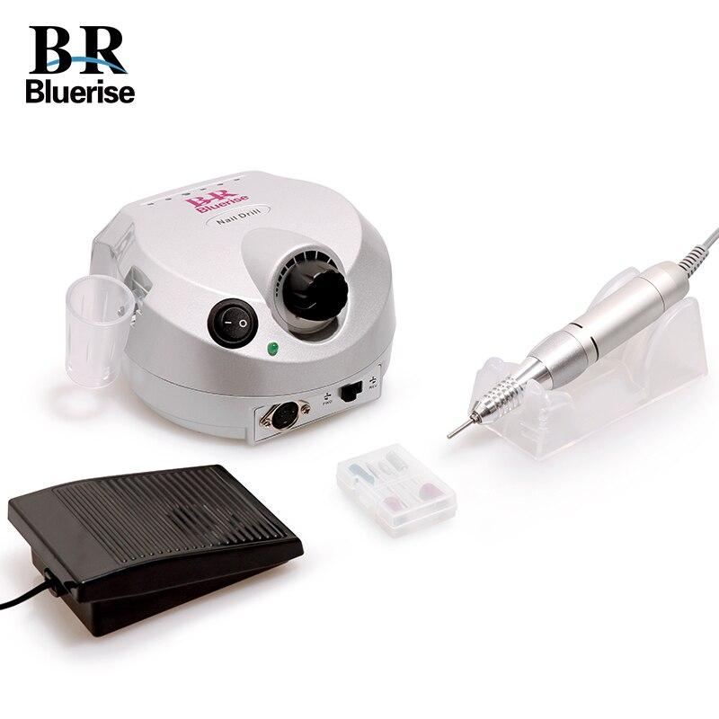 Clavo eléctrico máquina de perforación conjunto pedicura manicura 35000 RPM equipo de arte para uñas taladro Pedal de pie con soporte