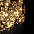 2016 de Lótus Romântico Multicolor LED Jardim Iluminação Festival de Casamento Decoração Do Feriado Luzes Da Corda Da Bateria Lumiere Luces Lotos