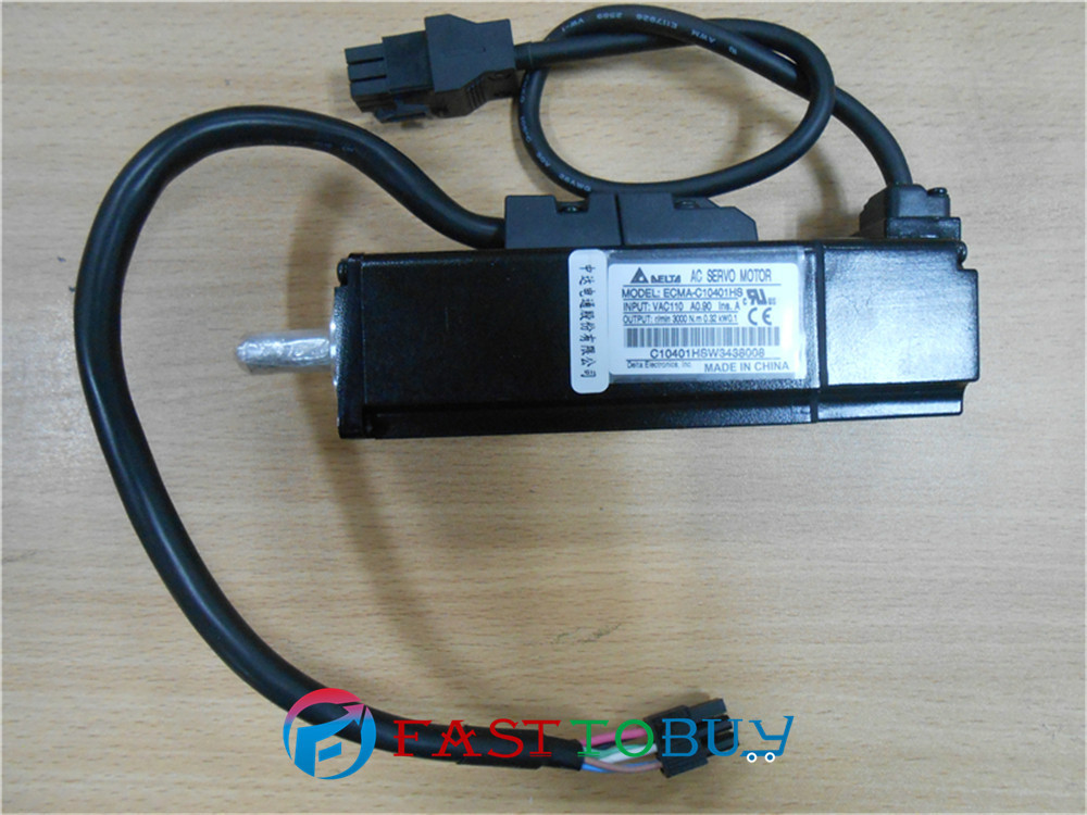 Delta AC Servo Motor 220V 100W 0.32NM 3000rpm ECMA-C10401HS with Keyway Oil Seal brake for A2 Drive New new original 750wa2 series motor ecma c10807rs 220v 750w 2 39nm 3000rpm ac servo motor with keyway oil seal