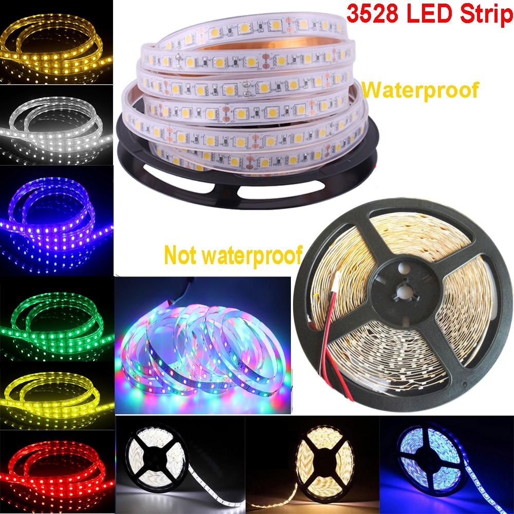5M 12V DIY LED Stirp Light Waterproof Tape Light 60leds/m 3528 RGB Flexible SMD