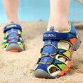 2017 Summer New Style Children Shoes Boys Fashion Cut-outs Sandals Kids Canvas Rain Sandals Breatherable Rubber Flats Shoes
