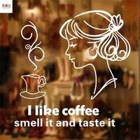 Я люблю кофе ресторан чай с молоком магазин стикеры стены обои десерт магазин бар обои фрески декоративное стекло окна