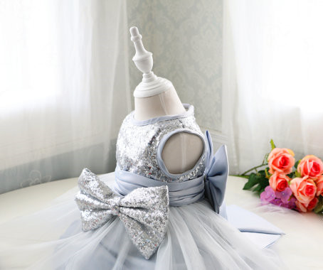 Bing bing Toddler/Infant/Baby/Newborn Glitz Pageant Dresses with Silver Sequin girls tulle prom dress