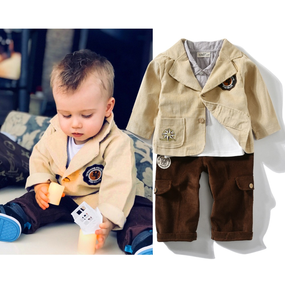4pcs Bodysuit Baby Boy Clothing Set infant Gentleman Suits For Winter Children Beby Clothes set School Uniform For Fashion kids одежда на маленьких мальчиков