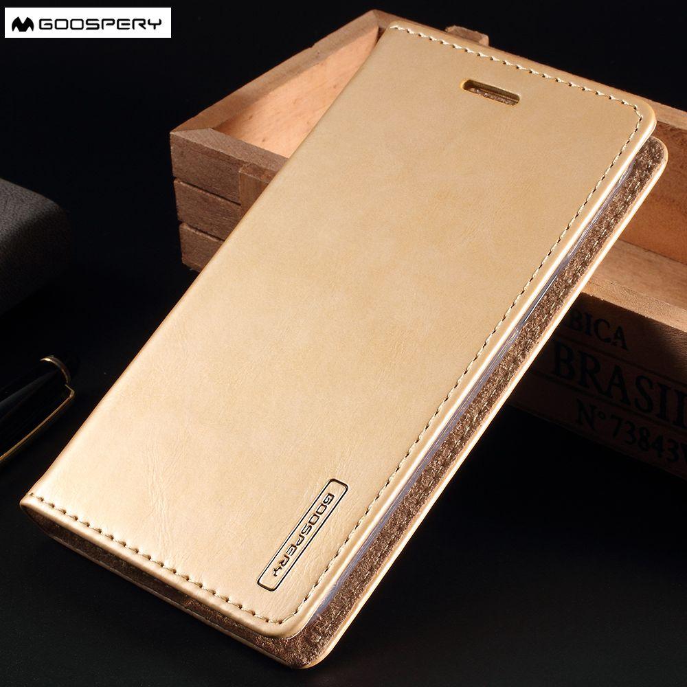 MERCURY GOOSPERY coque Für Samsung Galaxy S8 S8Plus S7 Rand J1 J3 J5 J7 2016 A3 A5 A7 2016 Fall Blue Moon Stehen Leder abdeckung