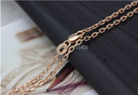 Pure Rose gold necklace Cable chain 2.73g