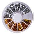 Новые модные АВ круглые цветные кристаллы стразы для нейл арта ногтевого дизайна декоративные/красивые прозрачные блестящие украшения для ногтей
