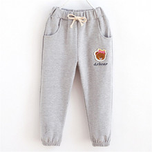 Cute Baby Girls Athletic Pants Cotton Trousers Casual Bottoms Lace Up Harem Pants Sports Length Pant