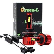 Зеленый-L D2S светодиодный фар 90 Вт 9800LM светодиодный огни автомобиля h4 h1 H7 h11 h13 9006 лампы авто налобный фонарь светодиодный 24 В огни автомобиля Бесплатная доставка
