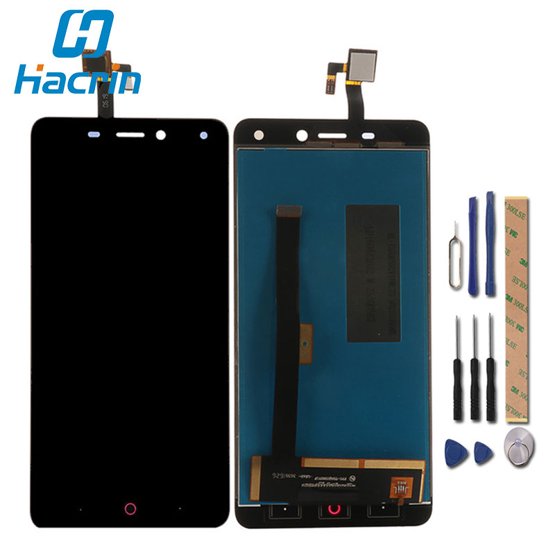 hacrin For ZTE Nubia N1 NX541J LCD Display +Touch Screen New Digitizer Glass Panel Replacement For ZTE Nubia N1 NX541J 5.5''