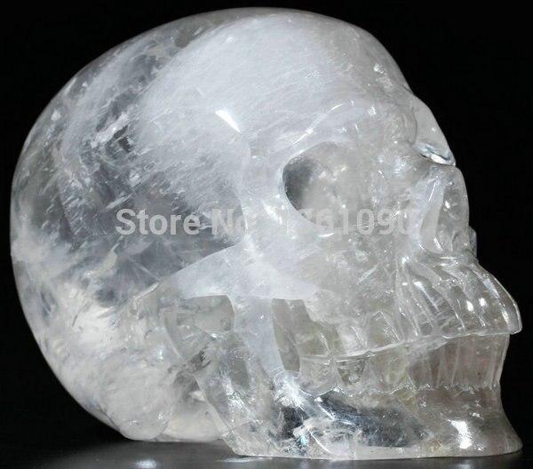 Бесплатная доставка XD j00336 ОГРОМНЫЙ КВАРЦ Рок Резные хрустального черепа, Реалистичный, исцеление