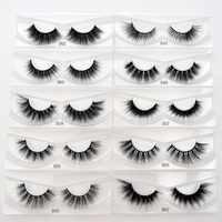 Visofree cilios vison cils maquillage faux cils fait à la main naturel plein volume cils 3D faux cils vison cils 10 styles