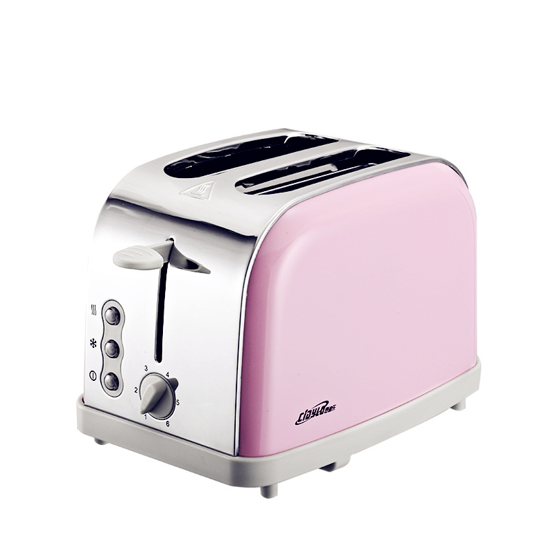 220V 800w toaster multi-function Automatic toaster 2 slices household stainless toaster