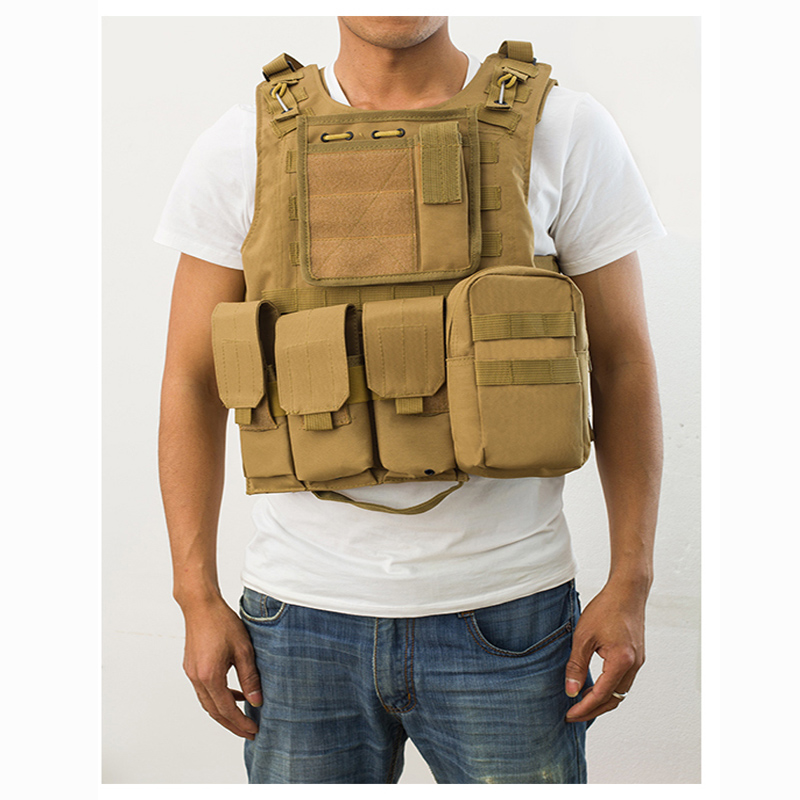 Airsoft Shooting Hunting Vest Tactical Vest Military Equipment Camouflage Combat Assault Molle Carrier Protection Vest 5 Colors