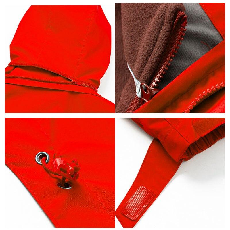 Rosa Tre rosso Sci Inverno Red Outdoor Cappotto Abbigliamento Lb viola colore Due Impermeabile pezzo Rose in Trekking uno Del Da Traspirante Antivento Donne wxRSA