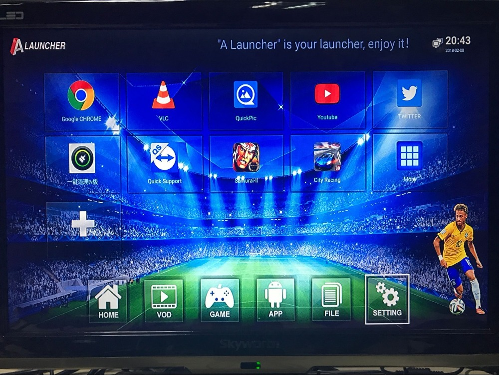 Android Tv Box With Gamepad Play Game Pes2018 In Radio Tv