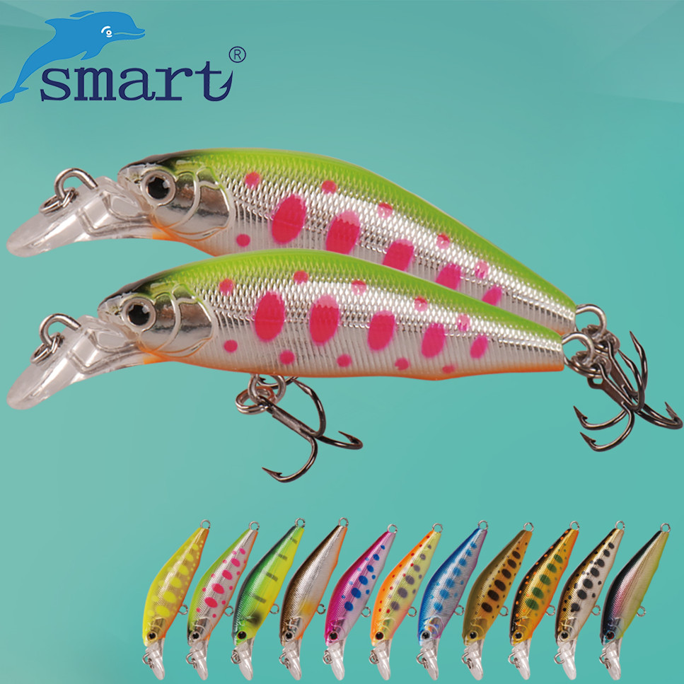 SMART 42mm3.66g Minnow Fishing Lures Sinking Swimbait Fishing Wobblers Iscas Artificiais Para Pesca Leurre Souple Fishing Tackle 1pcs minnow fishing lure jig wobblers iscas artificiais para pesca 7cm 8 5g swimbait crankbait fishing tackle ye 9x