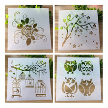1pc Owl Bird font b PET b font DIY Drawing Template Ruler Promotional Gift Stationery School