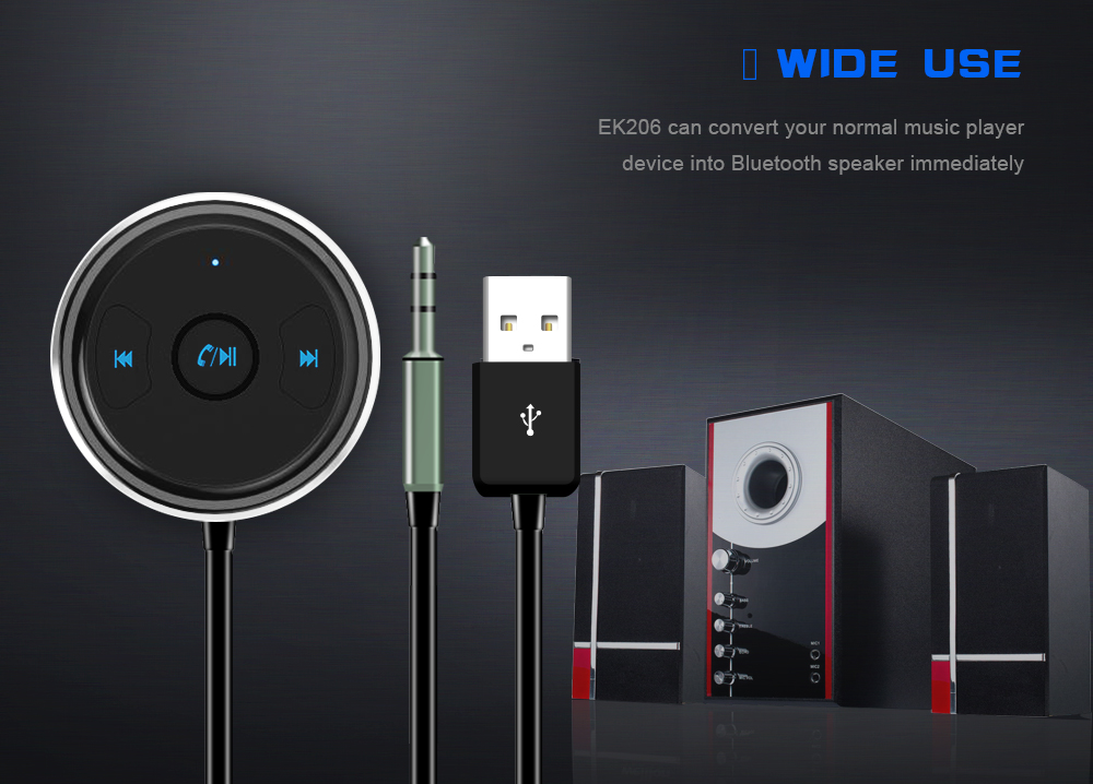 FDOMAIN auto 3.5mm jack AUX bluetooth adapter hands free car kit audio receiver support siri and other mobile voice assistant 13