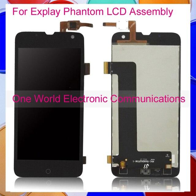 Preto 5.0 ''Novo Para Explay Fantasma LCD Screen Display Digitador Com Tela de Toque Conjunto Completo Frete grátis Código de Acompanhamento