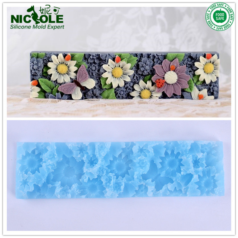 Nicole Handmade Silicone Flower Mat Only Used For D0019 And D0020 Silicone Loaf Soap Mold