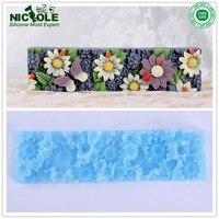 Nicole El Yapımı Silikon Çiçek Mat Sadece Kullanılan Için D0019 ve D0020 Silikon Ekmek Sabun Kalıp
