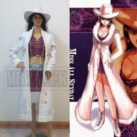 One Piece Nico Robin Cosplay Costume With Hat Custom Made Free Shipping