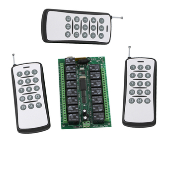 1000M Long Range DC24V 15CH Radio Controller RF Wireless Remote Control Switch System 315/433 Mhz 3*Transmitter + 1*Receiver