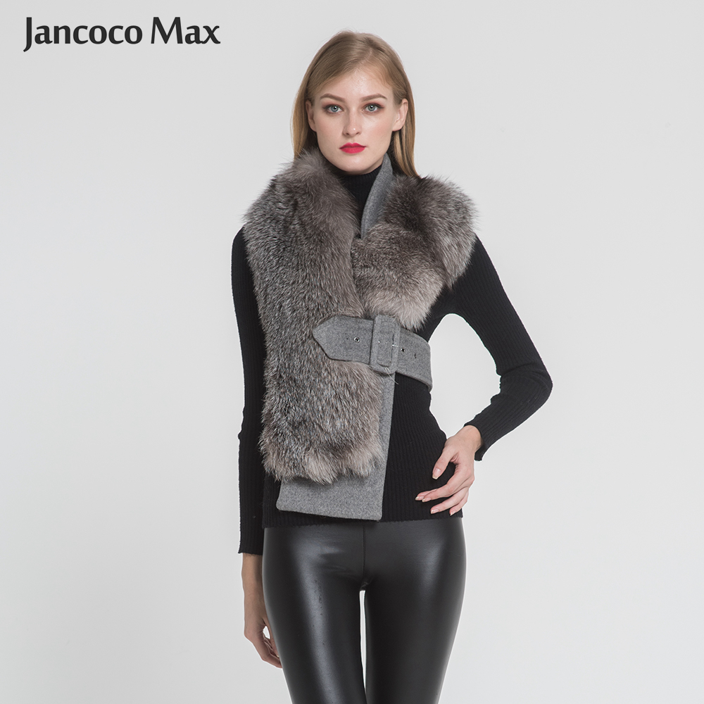 New Style Real Silver Fox Fur Vest Top Quality Thick Warm Fur Belt Fashion Style Natural Fur Sacrf S7397