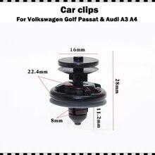 Nhựa Cao Cấp Xe Hơi Ô Tô Trang Trí Nội Thất Cửa Viền Bảng Đẩy Nhanh Kẹp Cho VW Passat Golf GTI Polo Audi A3 A4 10/20/50/100 Viên