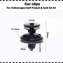 높은 품질 플라스틱 자동차 인테리어 도어 트림 패널 푸시 패스너 클립 폭스 바겐 Passat 골프 GTI 폴로 아우디 A3 A4 10/20/50/100 pcs