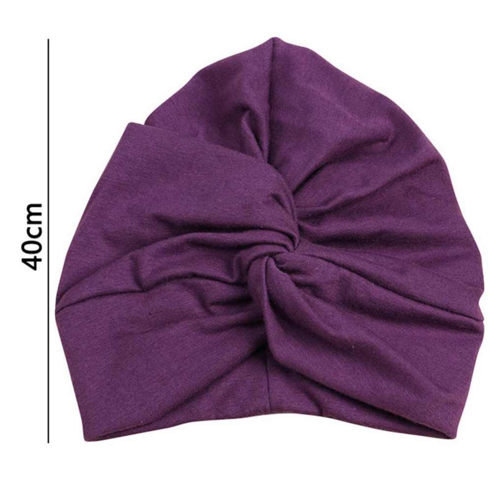 Novo design bonito chapéu do bebê algodão macio turbante nó menina verão chapéu boêmio estilo crianças recém-nascidos boné para o bebê meninas