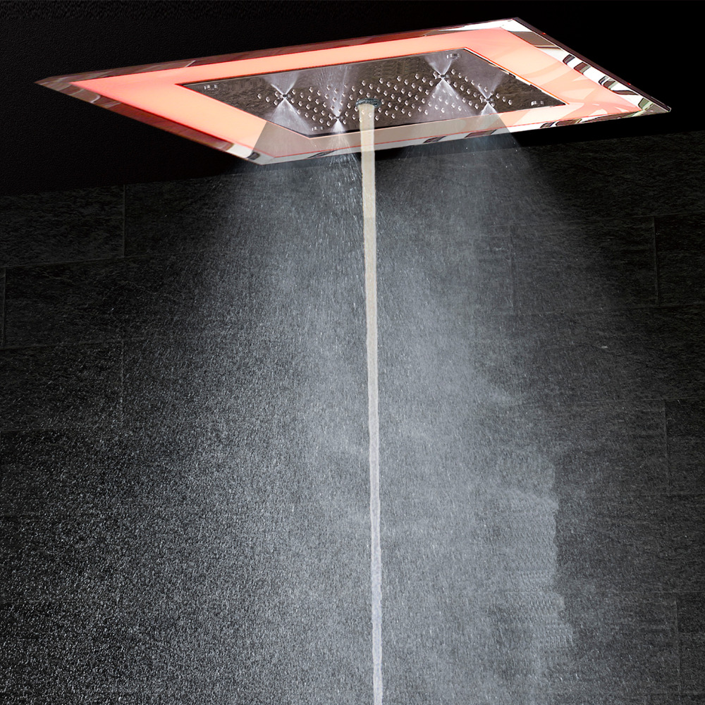 Luxury LED Bathroom Shower mixer Massage Jet Wall Mounted Bath ...