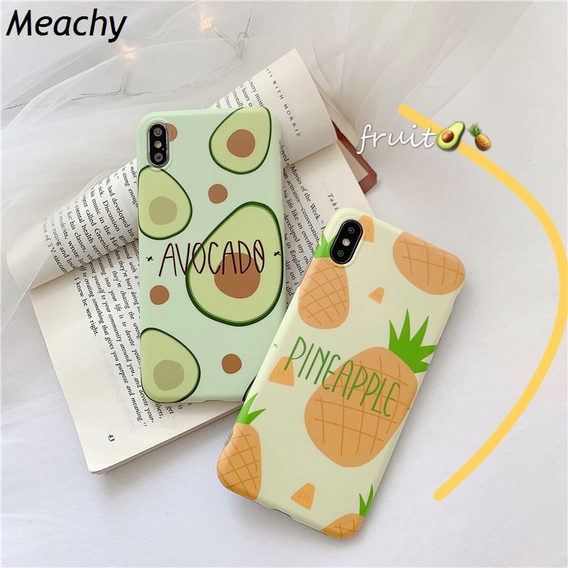 Meachy Summer Fruit Avocado Pineapple Phone Case For Huawei Honor 10 P30 P20 Pro Mate 20 Cover Silicone Cases