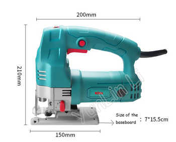 Woodworking Jig Saw 500W 220V Handheld Cutting Machine Multi-function Small Electric Wood Cutter Household Pull Flower Curve Saw