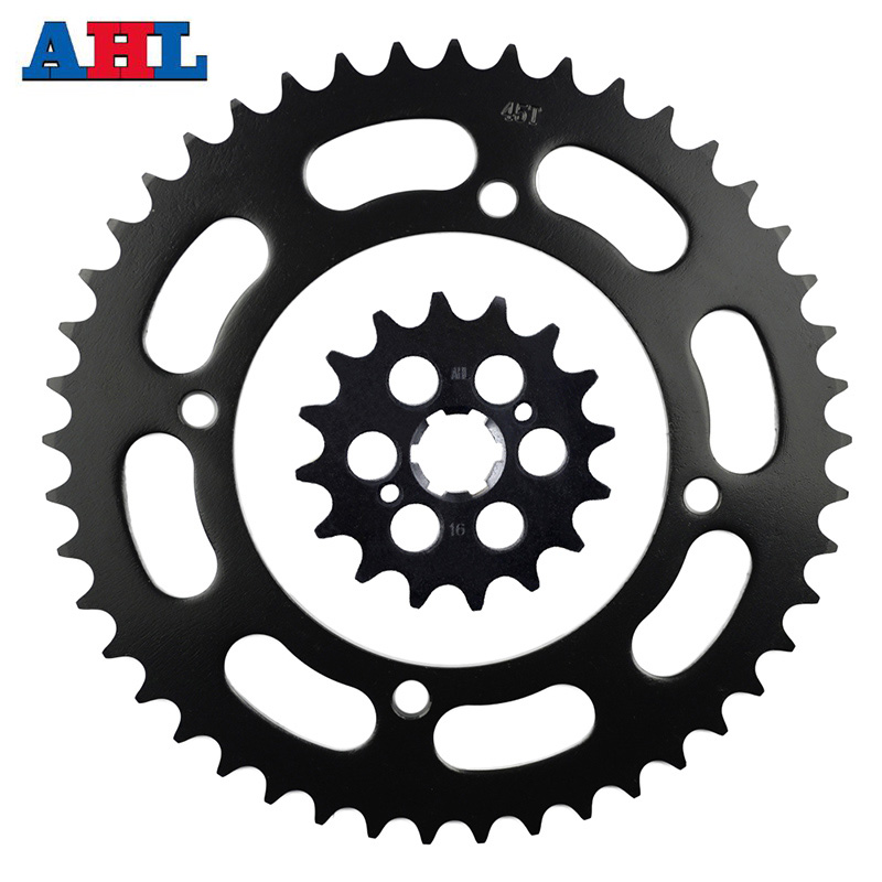 Motorcycle Parts 45T 16T Front Rear Sprocket For YAMAHA XV250 V Star 1989-2018 XV240 Virago 1989 Gear Fit 520 Chain
