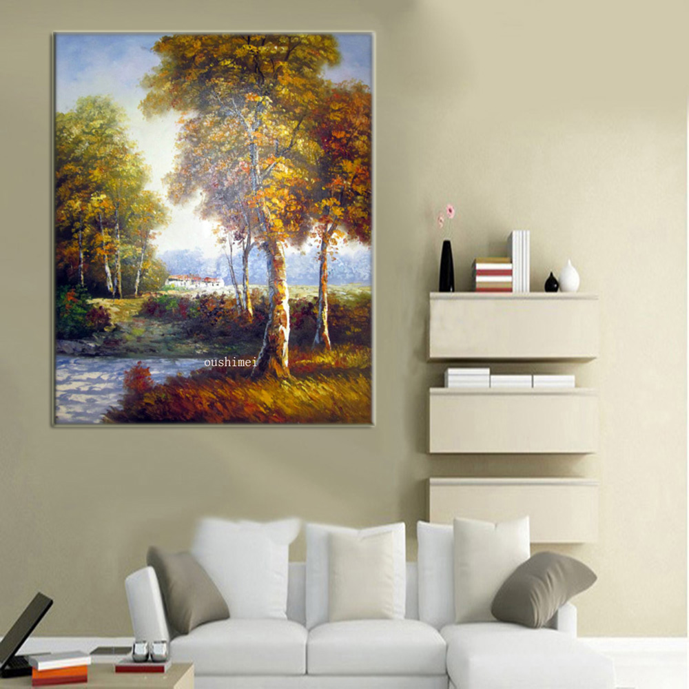 Hand Painted Oil Painting Hang Paintings Room Decor Modern