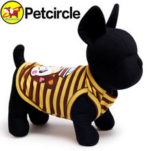 2015 New Arrival Petcircle Cute Dog Vest Clothing Yellow Stripe Small and Large Pet Cat Dog Clothes in Summer Free Shipping
