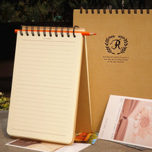 new vintage kraft paper A5 line note book B5 spiral coil notebook for planner diary office school stationary material escolar
