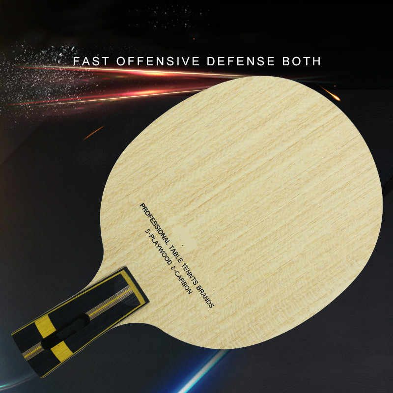 Professional Table Tennis  Racket Training Blade ZLC 5 Plywood  ZL Carbon Fiber Ping Pong Paddle  DIY Friendship  Rubber 1PCS