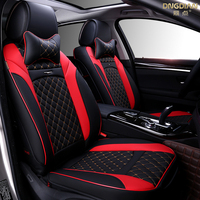 New 6D Car Seat Cover,Universal Seat Cushion,Senior Leather,,Sport Car Styling,Car Styling For Sedan SUV