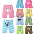 Cortocircuitos del bebé niño y niña pantalones cortos 5 unids/lote 2015 verano de algodón chándales sport pantalones de los pp de la venta caliente bebé ropa